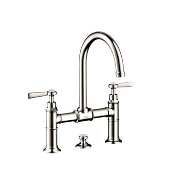 Hansgrohe 16510831 Axor Montreux Widespread Bridge Faucet with Lever Handles - Polished Nickel
