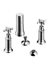 Hansgrohe 16521821 Axor Montreux Vertical Bidet Mixer - Brushed Nickel (Pictured in Chrome)