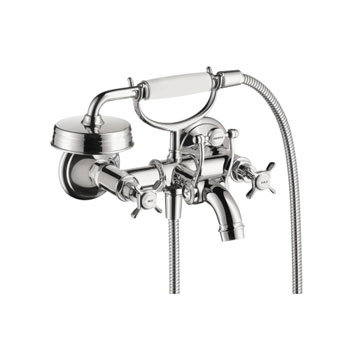 Hansgrohe 16540001 Axor Montreux Wall Mounted Two Handle Tub Filler with Handshower - Chrome