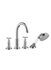 Hansgrohe 16544821 Axor Montreux Roman Tub Filler with Handshower Trim Kit - Brushed Nickel (Pictured in Chrome)
