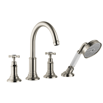 Hansgrohe 16544821 Axor Montreux Roman Tub Filler with Handshower Trim Kit - Brushed Nickel