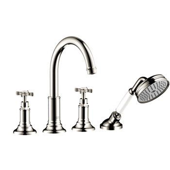 Hansgrohe 16544831 Axor Montreux Roman Tub Filler with Handshower Trim Kit - Polished Nickel