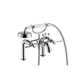 Hansgrohe 16552001 Axor Montreux Rim-Mounted Tub Filler with Lever Handles -  Chrome