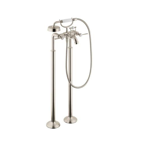 Hansgrohe 16553821 Axor Montreux Freestanding 2 Handle Tub Filler with Lever Handles - Brushed Nickel