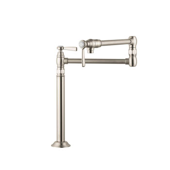 Hansgrohe 16860821 Axor Montreux Deck-Mounted Pot Filler - Brushed Nickel