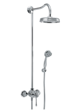 Hansgrohe 17620821 Axor Phoenix Showerpipe - Brushed Nickel (Pictured in Chrome)