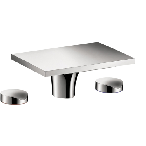 Hansgrohe 18015001 Axor Massaud Widespread Lavatory Faucet without Pop-Up Assembly - Chrome