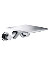 Hansgrohe 18115001 Axor Massaud Wall Mounted Widespread Lavatory Faucet - Chrome