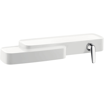 Hansgrohe 19132401 Axor Bouroullec Shelf with Integrated Single Handle Lavatory Faucet - White/Chrome