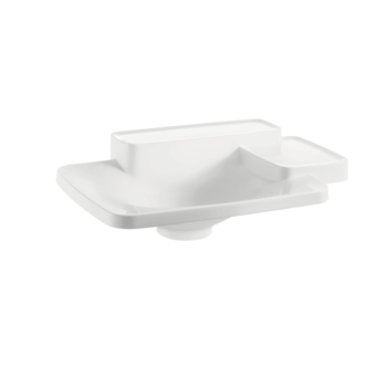 Hansgrohe 19941000 Axor Bouroullec Small Drop-In Washbasin with Two Shelves - Alpine White