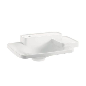 Hansgrohe 19941110 Axor Bouroullec Small Drop-In Washbasin with Two Shelves 1 Hole - Alpine White