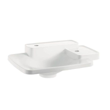 Hansgrohe 19941230 Axor Bouroullec Small Drop-In Washbasin with Two Shelves 2 Hole - Alpine White