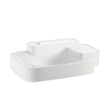 Hansgrohe 19942110 Axor Bouroullec Small Wall-Mounted Washbasin with Two Shelves 1 Hole - Alpine White