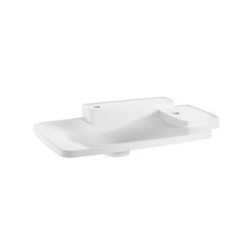 Hansgrohe 19943230 Axor Bouroullec Large Drop-In Washbasin with Two Shelves 2 Hole - Alpine White