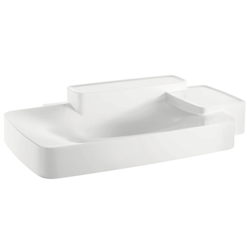 Hansgrohe 19944000 Axor Bouroullec Large Wall-Mounted Washbasin with Two Shelves - Alpine White