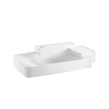 Hansgrohe 19944110 Axor Bouroullec Large Wall-Mounted Washbasin with Two Shelves 1 Hole - Alpine White
