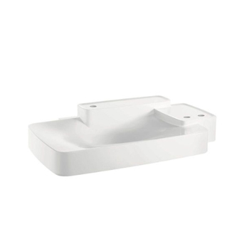 Hansgrohe 19944330 Axor Bouroullec Large Wall-Mounted Washbasin with Two Shelves 3 Hole - Alpine White