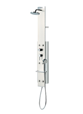 hansgrohe lift m20 shower panel wall mount satin pictured in whitechrome - Hansgrohe Shower
