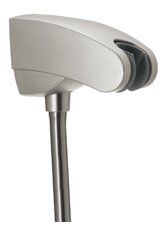 Hansgrohe 27508801 Porter 'E Holder w/Outlet - Steel (Pictured in Brushed Nickel)