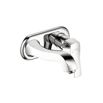 Hansgrohe 31003821 Metris C Wall-Mounted Single Handle Faucet Trim - Brushed Nickel (Pictured in Chrome)