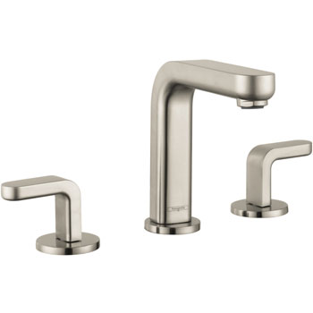 Hansgrohe 31067821 Metris Widespread Lavatory Faucet with Lever Handles - Brushed Nickel