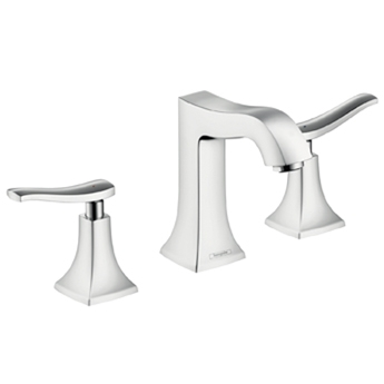 Hansgrohe 31073821 Metris C Widespread Lavatory Faucet - Brushed Nickel (Pictured in Chrome)