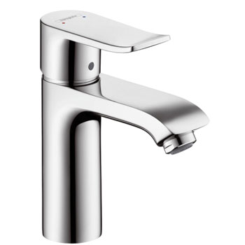 Bathroom Faucets Hansgrohe hansgrohe 31080001 metris 110 single hole lavatory faucet - chrome
