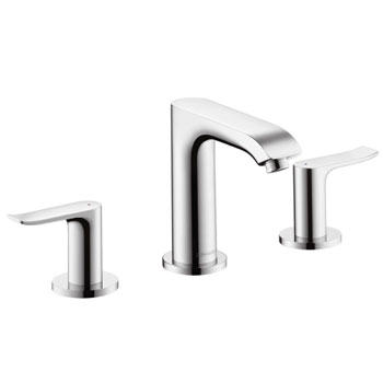 Hansgrohe 31083821 Metris 100 Widespread Lavatory Faucet - Brushed Nickel