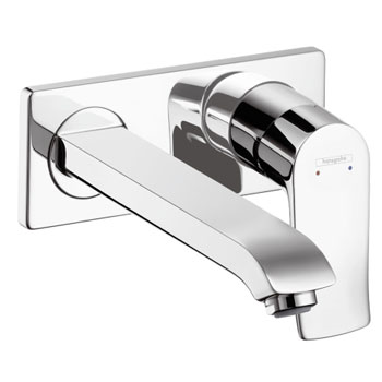 Hansgrohe 31086821 Metris Single Handle Wall Mounted Faucet Trim - Brushed Nickel (Pictured in Chrome)