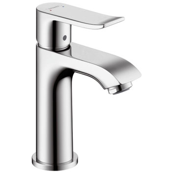 Hansgrohe 31088821 Metris 100 Single Hole Lavatory Faucet - Brushed Nickel (Pictured in Chrome)