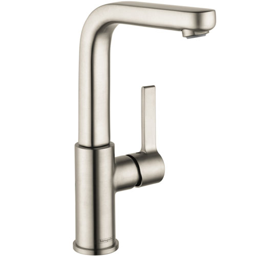 Hansgrohe 31161821 Metris S Tall Single-Hole Faucet - Brushed Nickel