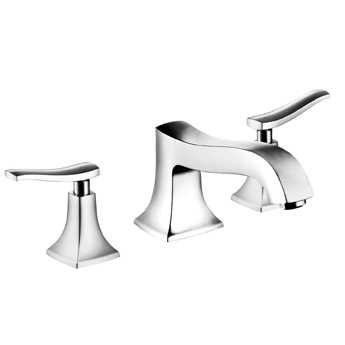 Hansgrohe 31313821 Metris C 3-Hole Tub Filler Trim - Brushed Nickel (Pictured in Chrome)