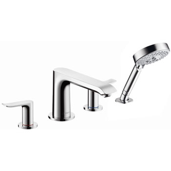 Hansgrohe 31444001 Metris 4 Hole Roman Tub Set Trim - Chrome