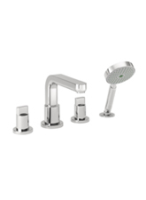 Hansgrohe 31446821 Metris 4-Hole Roman Tub Set (Trim Only) - Brushed Nickel (Pictured in Chrome)