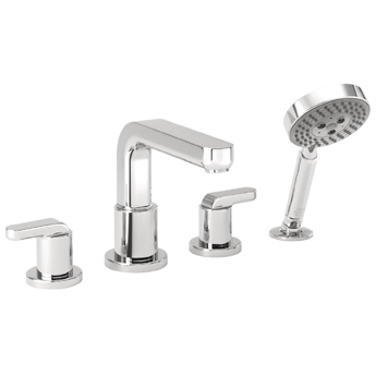 Hansgrohe 31448821 Metris Roman Tub Faucet Trim with Lever Handles and Handshower - Brushed Nickel (Pictured in Chrome)