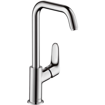 Hansgrohe 316099821 Focus 240 Tall Single Hole Lavatory Faucet - Brushed Nickel (Pictured in Chrome)