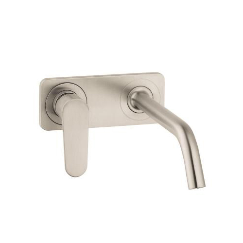 Hansgrohe 34115821 Axor Citterio M Wall-Mounted Single-Handle Faucet with Base Plate - Brushed Nickel