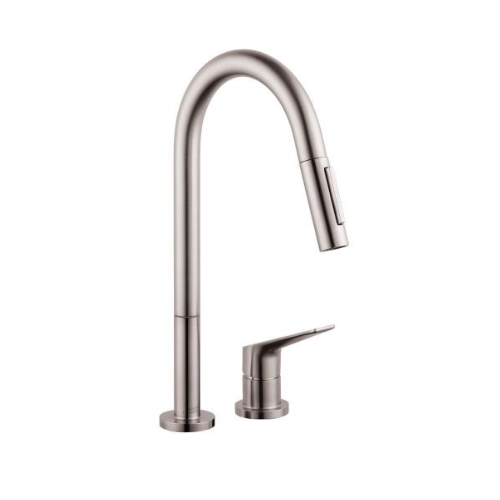 Hansgrohe 38422801 Axor Citterio M 2 Hole Pull Down Kitchen Faucet - Steel Optik