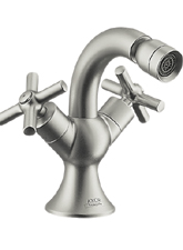 Hansgrohe 37230811 Axor Terrano 2-Handle Bidet Mixer - Satinox (Pictured in Brushed Nickel)