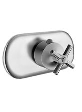 Hansgrohe 37379821 Axor Terrano Trim, EcoMax Termostatic Mixer with Cross Handle - Brushed Nickel (Pictured in Chrome)
