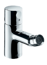 Hansgrohe 38200821 Axor Uno Bidet Mixer with Zero Handle - Brushed Nickel (Pictured in Chrome)