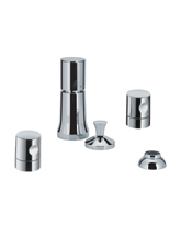 Hansgrohe 38220820 Axor Uno Vertical Bidet Mixer - Brushed Nickel (Pictured in Chrome)