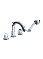 Hansgrohe 38447821 Axor Uno Roman Tub Faucet Trim Only - Brushed Nickel (Pictured in Chrome)