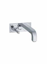Hansgrohe 39115001 Axor Citterio Wall Mounted Lavatory Faucet with Base Plate - Chrome