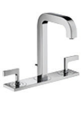 Hansgrohe 39136821 Axor Citterio Widespread Lavatory Faucet with Lever Handles and Base Plate - Brushed Nickel (Pictured in Chrome)