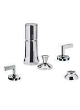 Hansgrohe 39225820 Axor Citterio Vertical Bidet Mixer with Lever Handles - Brushed Nickel (Pictured in Chrome)