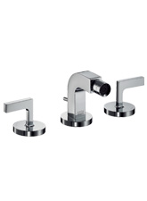 Hansgrohe 39235821 Axor Citterio Widespread Bidet Lavatory with Lever Handles - Brushed Nickel (Pictured in Chrome)