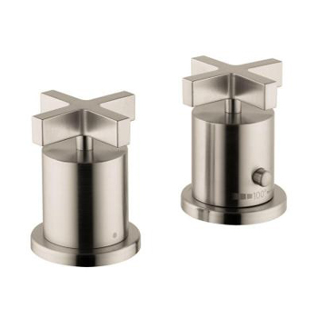 Hansgrohe 39480821 Axor Citterio Thermostatic Deck Valve Trim Only - Brushed Nickel