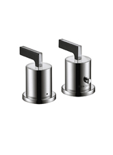Hansgrohe 39482001 Axor Citterio Thermostatic Deck Valve Trim Only - Chrome (Pictured in Brushed Nickel)