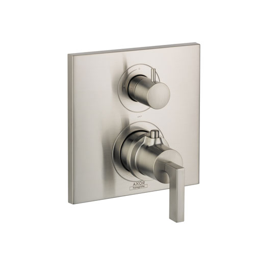 Hansgrohe 39700821 Axor Citterio Thermostatic Trim with Volume Control, Lever Handle - Brushed Nickel